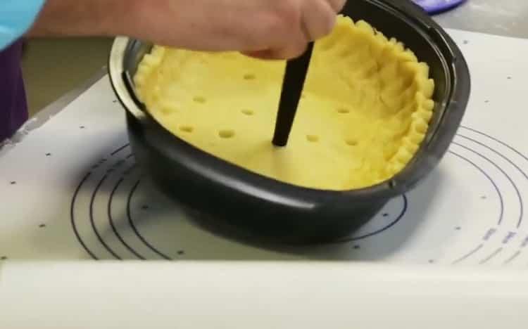 Для приготовления блюда приготовьте тесто
