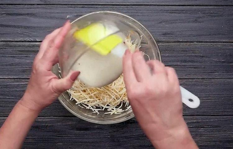 Для приготовления корня сельдерея соедините ингредиенты