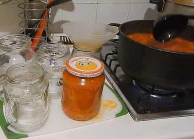 Лечо из болгарского перца с томатной пастой на зиму — очень просто и вкусно 