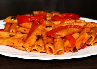 Вкусные макароны с овощной подливкой — постный рецепт 🍝