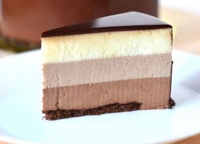 Безумно вкусный муссовый торт Три шоколада 🍰
