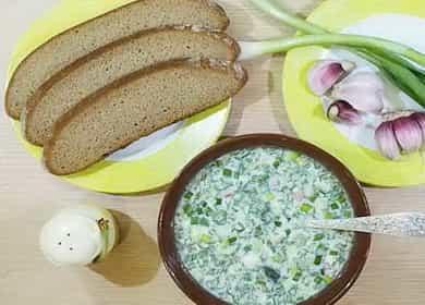 Рецепт классической освежающей окрошки на кефире 🥣