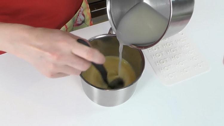 Для приготовления пудинга подготовьте ингредиенты