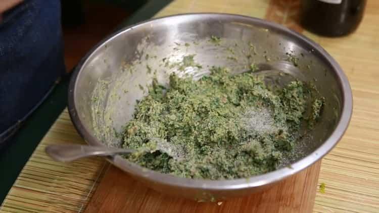 Пхали из шпината - вкусная грузинская закуска