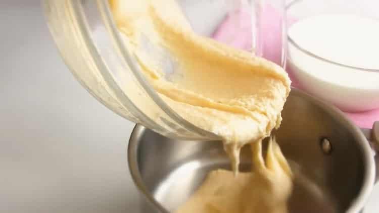 Для приготовления мороженого соедините инреюиенты