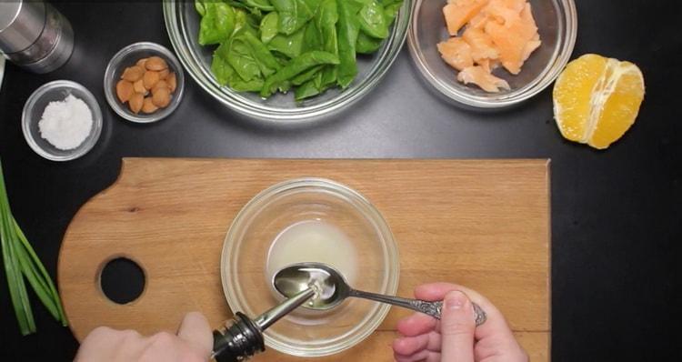 Готовим салат со шпинатом