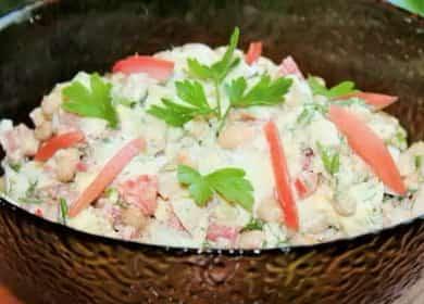 Салат с белой фасолью консервированной: пошаговый рецепт с фото 🥗
