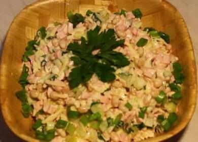 Как научиться готовить вкусный салат с белой фасолью 🥫