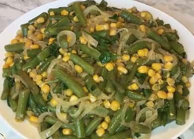 Салат с зеленой фасолью: пошаговый рецепт с фото