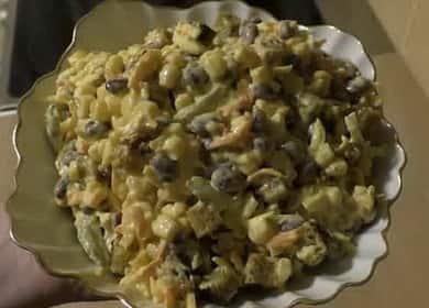 Салат с фасолью и кукурузой: пошаговый рецепт с фото