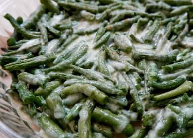Рецепт приготовления очень вкусной стручковой фасоли на сковороде 🍲