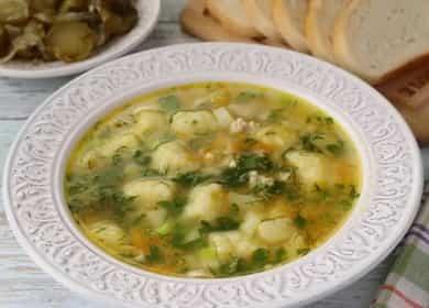 суп с клецками готов