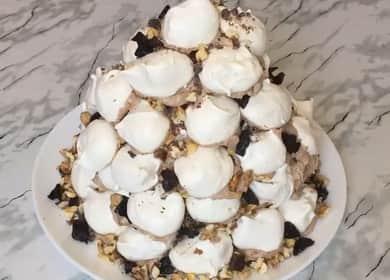 Как научиться готовить вкусный торт Графские развалины с безе 