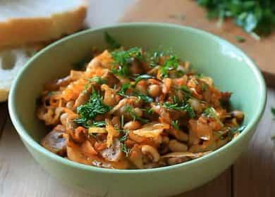 Тушеная капуста с фасолью по пошаговому рецепту с фото