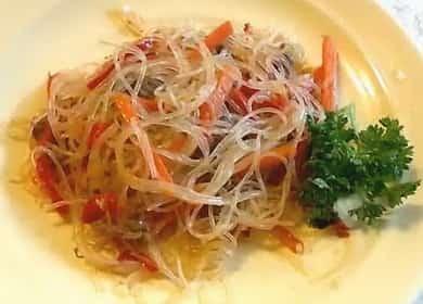 Фунчоза с говядиной и овощами — очень вкусно и просто 