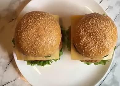 Вкуснейший чикенбургер с курицей в домашних условиях 