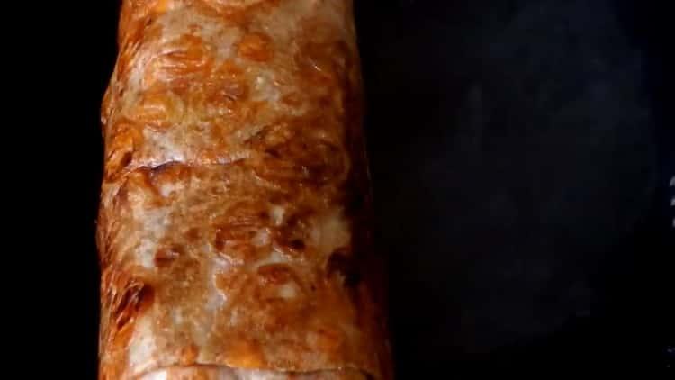 Шаурма домашняя с курицей в лаваше: пошаговый рецепт с фото