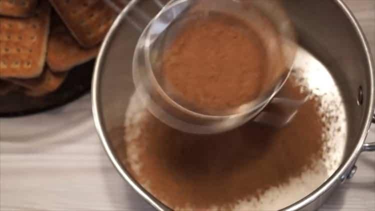 Как готовится шоколадная колбаска