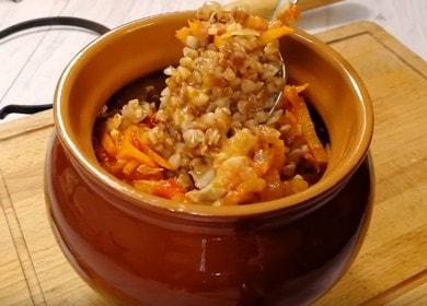 Очень вкусная гречка в горшочке: готовим по пошаговому рецепту с фото.