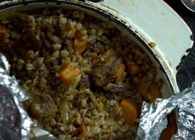 Ароматная гречка с говядиной: готовим по пошаговому рецепту с фото.