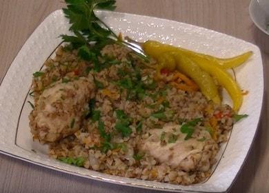 Вкусная гречка с курицей в мультиварке: готовим с пошаговыми фото.