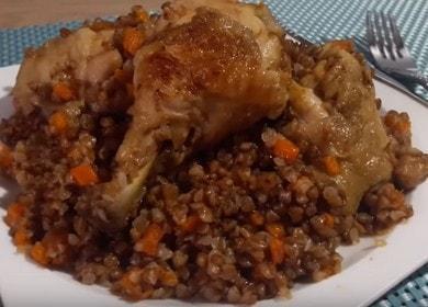 Очень вкусная гречка с курицей: готовим по пошаговому рецепту с фото.