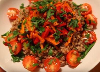 Очень вкусная гречка с овощами: готовим по пошаговому рецепту с фото.
