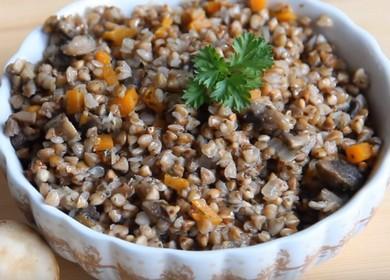 Ароматная гречка с шампиньогнами: готовим по пошаговому рецепту с фото.