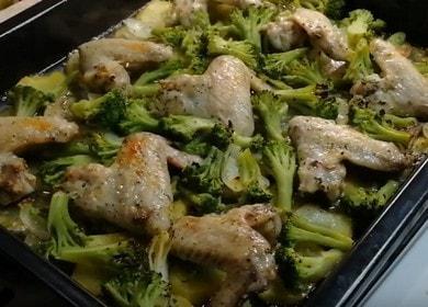 Аппетитная курица с брокколи в духовке: готовим по пошаговому рецепту с фото.