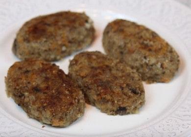 Готовим вкусные постные котлеты из гречки с грибами по пошаговому рецепту с фото.