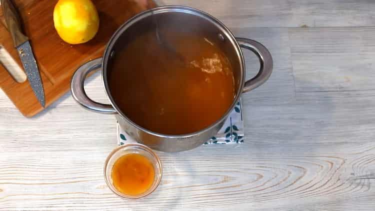 Для приготовления напитка подготовьте ингредиенты