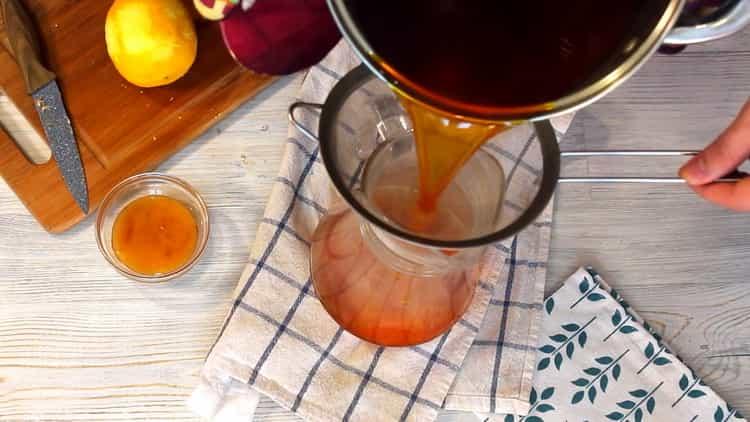 Для приготовления напитка процедите напиток
