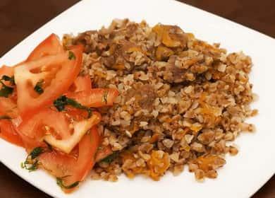 Вкусная гречка с мясом в мультиварке — простой рецепт 🥣