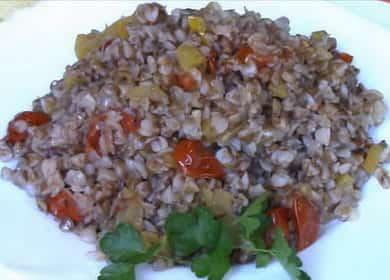 Гречка с овощами на сковороде по пошаговому рецепту с фото