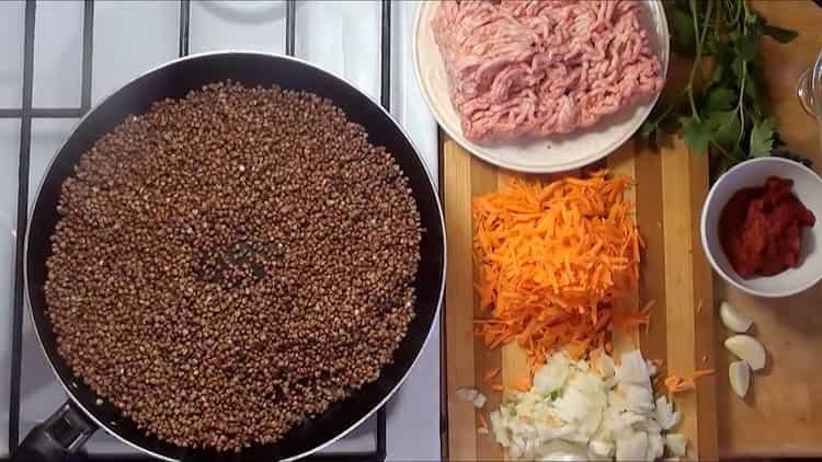 Для приготовления блюда подготовьте овощи