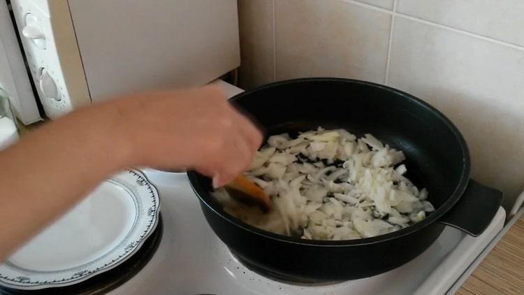 Как готовимся гречка с шампиньонами и луком