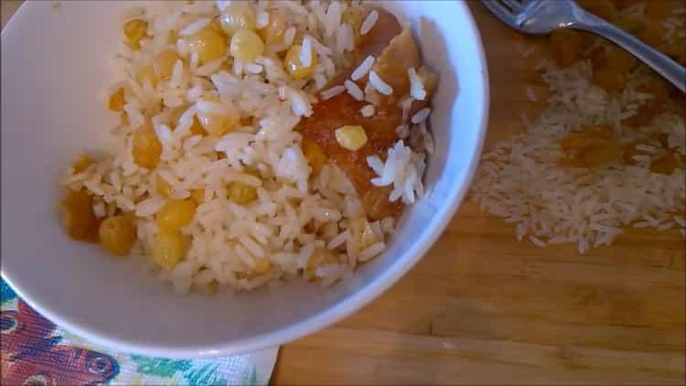 рисовая каша с изюмом готова