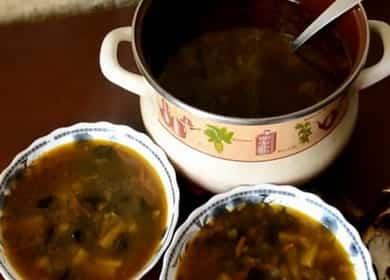 Грибной суп из сушеных грибов с перловкой по пошаговому рецепту с фото
