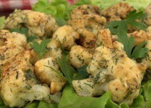 Вкуснейшая жареная цветная капуста: простой пошаговый рецепт с фото.