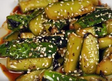 Самый вкусный рецепт жареных огурцов по-корейски 🥒