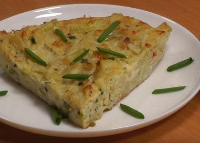 Вкусная Фритата — кабачки с яйцом на сковороде 