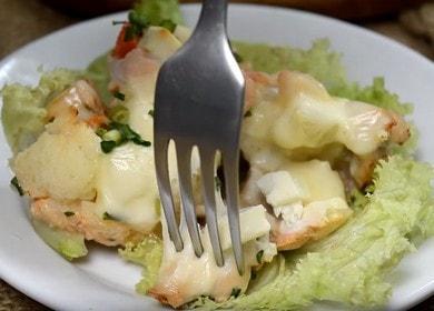 Вкусная курица, запеченная с цветной капустой, в духовке 🍗