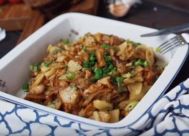 Жареные грибы лисички — простой рецепт приготовления 🍄