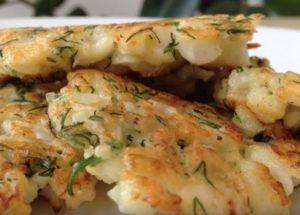 Готовим вкусные оладьи из цветной капусты по пошаговому рецепту с фото.