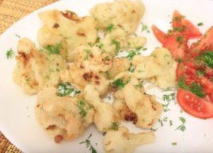 Готовим вкусное постное блюдо из цветной капусты по пошаговому рецепту с фото.