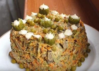 Как научиться готовить вкусный салат Обжорка с печенью 數