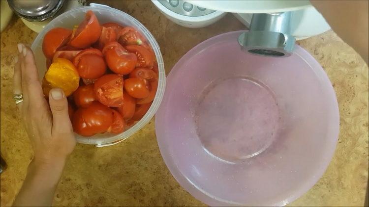 нужно измельчить помидоры