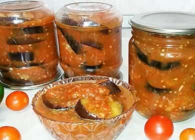 Жареные баклажаны с чесноком и помидорами на зиму 🍆