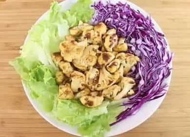 Цветная капуста со специями, запеченная в духовке — очень вкусное блюдо 🥦