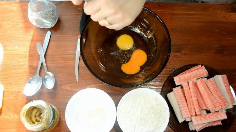Готовим жареные крабовые палочки: пошаговый рецепт с фото